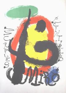 JOAN MIRO (Spain 1893-1983)  PEINTURES MURALES-ON ARCHES PAPER -GALERIE MAEGHT