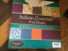 "Indian summer Paper Stack 12"" x 12"" Scrapbook Pad mixed prints 180 sheets"