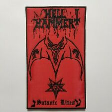 Hell Hammer Satanic Rites Black Border EMBROIDERED  PATCH