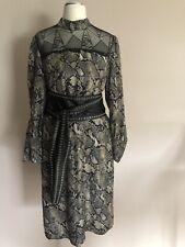 SET Kleid Gr. 36 S OUISET Oui Abendkleid mit Seide und Spitze schlange NEU