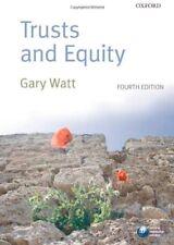 Trusts and Equity,Gary Watt- 9780199573172