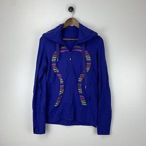 Lululemon Blue Scuba Zip Up Jacket Hoodie Thumbholes Women's Size 8 or 10