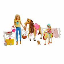 Barbie Reitspaß mit Barbie (blond), Chelsea, Pferd und Pony
