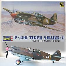 "REVELL 1/48 CURTISS P-40B ""TIGER SHARK"" CLASSIC EX-MONOGRAM MOLDS"