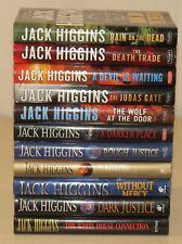 Lot of 11 hardcover Jack Higgins, Sean Dillon series - Justice Mercy Wolf Rain