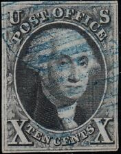 U.S. 2 1847 FVF+ Blue Ccl. 4 Margin (30720a)