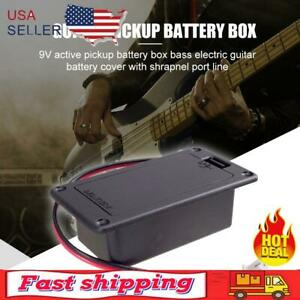 NEW 9V Battery Holder Case Box Cover for Guitar Active Pickup Connector Parts US