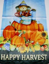 "Flip It! Decorative Porch Flag 28"" x 40 Happy Harvest"