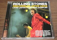 FREE ship! The ROLLING STONES Japan PROMO ONLY CD Licks Tour Sampler 10 tracks