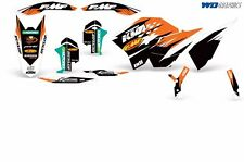 KTM Graphic Kit Dirt Bike Decal Backgrounds SX,XCR-W,XCF-W,EXC,XC,XC-W 07-11 FMF