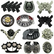 12 Pcs Wholesale Belt Buckles Manufacturer Usa Skull Tattoo Gothic Bottle opener