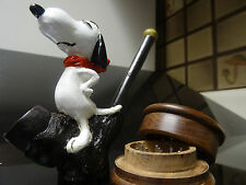 Snoopy Smoking Ceramic  Pipe  + Wood Grinder & 5 screens  Not Glass 3331 +G