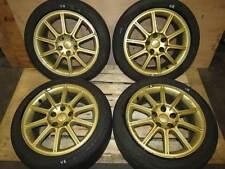 2005 JDM Subaru WRX STI Rims 5X114.3 Wheels JDM EJ207 V8 GOLD 17x8 +53et ENKEI
