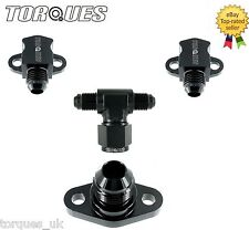Suzuki GSXR Cam Cover Oil Feed Head Cooler Adapter KIT AN-6 / AN-8 In Black