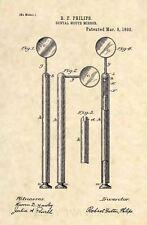 Official Dentist Mirror US Patent Art Print - Vintage Antique Dental Drill 166