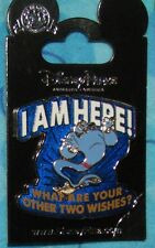 Disney Pin I Am Here Genie What are your other Two Wishes Aladdin Carded New