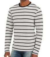 Guess Mens T-Shirt Black US Size 2XL Industry Striped Tee Long Sleeve $59 #313
