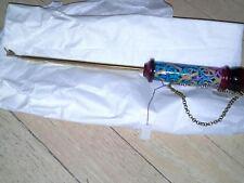 NWT, Blue Wood and Copper Torah Scroll Yad
