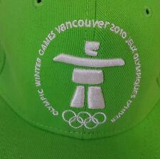 Vancouver 2010 Olympics Hat Winter Games Adult Cap Whistler Inukshuk L XL