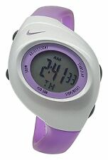 New Nike Kids Triax Junior WR0017 Supra Violet and Silver Digital 38mm Watch