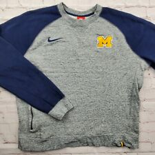 Vintage MICHIGAN WOLVERINES Nike Crewneck SWEATSHIRT Mens XL Extra Large