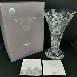 "Waterford Crystal Millennium 14"" Vase With Box & Papers"