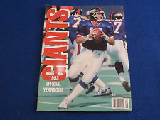 1993 NY GIANTS OFFICIAL YEARBOOK ~ NFL FOOTBALL ~ PHIL SIMMS COVER