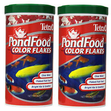 2 Pack Tetra Pond Food, Flaked Color Fish Food For goldfish koi 6-Ounce,1-Liter