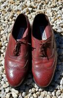 FLORSHEIM MENS SHOES. Leather Dress Lace-Ups. Leather-lined. Size 9 Mid Tan
