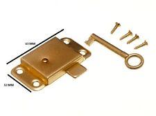 Puerta De Armario Cajón Ropero cerradura y llave 63mm + Accesorios Pack de 2