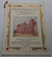 RARE EARLY ORIGINAL  DUCKWORTH & CO  MINERAL WATER  RELATED PRICE LIST
