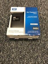 """Western Digital WD 2.5"""" USB Hard Drive My Passport Essential 500GB Black"""