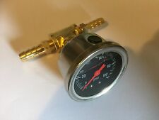 New Fuel Pressure Adaptor & Gauge For Mitsubishi Lancer Evo 4,5,6,7,8,9,X Turbo
