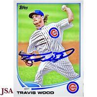 *RARE* Travis Wood Cubs Signed Baseball Card 2016 World Series Autograph-JSA COA