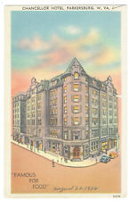 Parkersburg West Virginia Chancellor Hotel posted 1954
