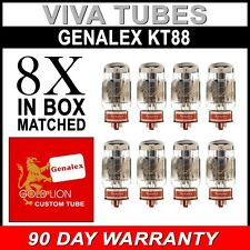 Brand New Matched Octet (8) Genalex Gold Lion Reissue KT88 / 6550 Vacuum Tubes