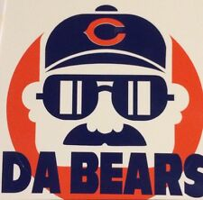 "Chicago Bears Ditka NFL Decal 4.5""x 4.5"". **FREE SHIPPING**"