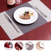 New: 6PCS/Set Tischset Matte Platzdeckchen Decke abwaschbar rutschfest 450*300mm
