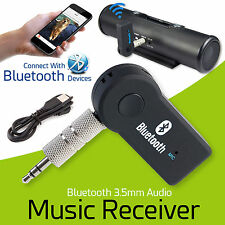 2018 Wireless Bluetooth Audio Receiver Stereo Music Car Adapter & Mic 3.5mm AUX