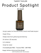 Tammy Taylor - A+ Top Coat - 0.5oz/15ml (Pink & White Acrylic Sealer)