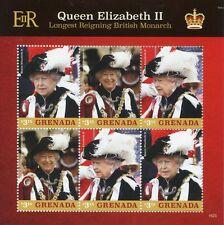Grenada 2015 MNH Queen Elizabeth II Longest Reigning British Monarch 6v M/S