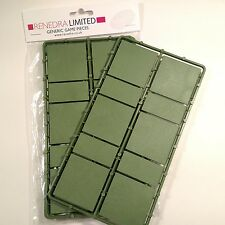 Renedra Large Cavalry Wargaming Base Mix 2 Green Bases, 20 per pack