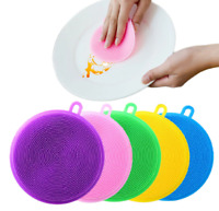 Silicone Cleaning Brush Dish washing Sponge Multi-functional Fruit Kitchen Tools