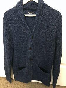 Abercrombie & Fitch Shawl Collar Sweater | Men's | Medium M | Blue