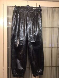 """MENS/LADS LEATHER LOOK TROUSERS/JOGGERS  36/40"""" Gay/Fetish Int"""