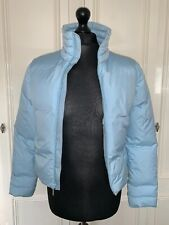 Official Sonneti Ladies Light Ice Blue Puffer Jacket Coat Size 10 ACAE05 VGC