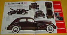 1936 1935 1937 Cord 810/812 V8 289 ci 125 hp IMP Info/Specs/photo 15x9