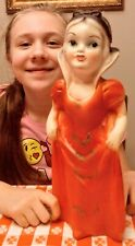 Vintage Chalkware Hand Painted Snow White Carnival Prize Statue Disney 1940's !