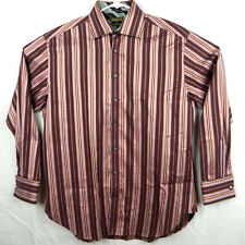 Ted Baker Shirt Mens 16.5 x 42 French Cuffs Superfine Cotton Vertical Stripes