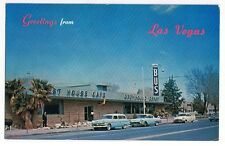 Greyhound Post House And Depot 1950's Cars Postcard Las Vegas Nevada FS-579